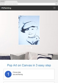 Photo to Custom Handmade Paintings - Pop Art on Canvas - Popainting