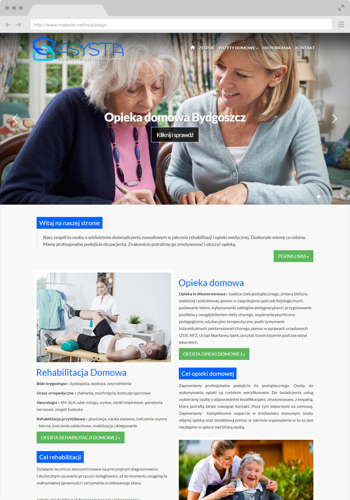 Sample website design - home care