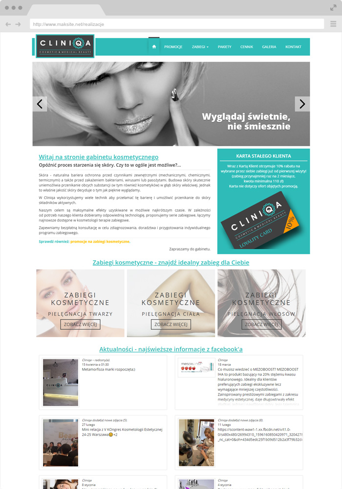 Sample website design - beauty salon