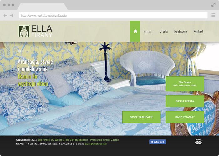 Website Design Ella Curtains Bydgoszcz