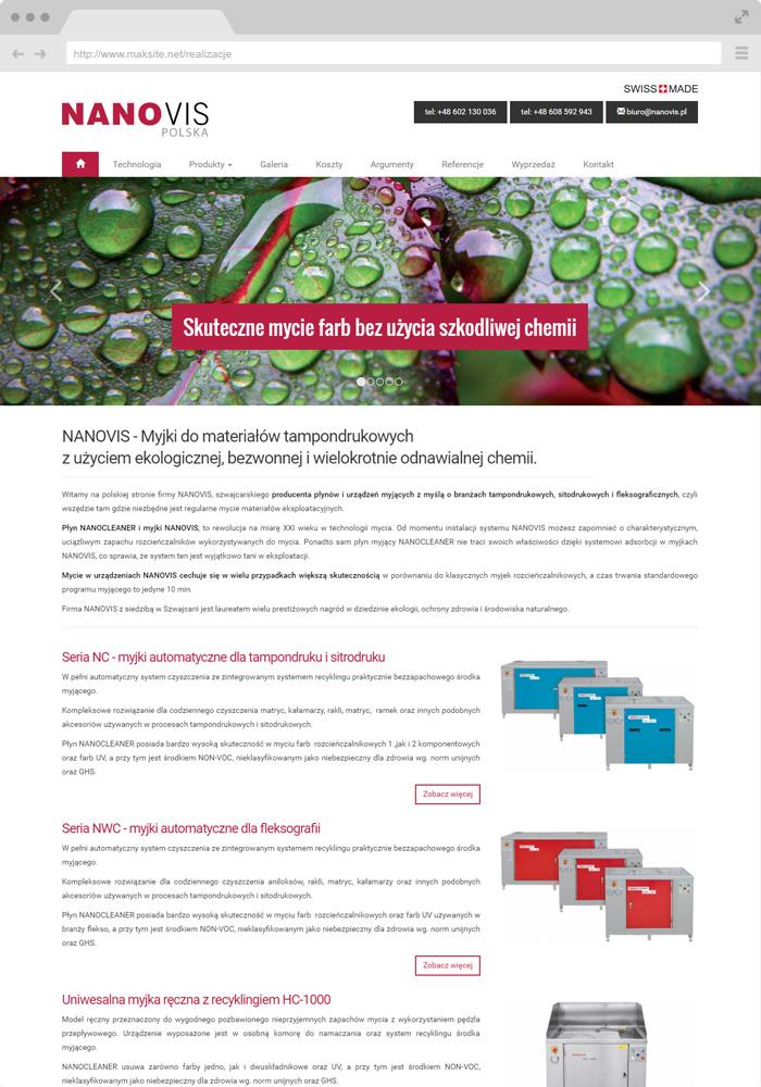 Beispiel-Website-Design - Gerätehersteller