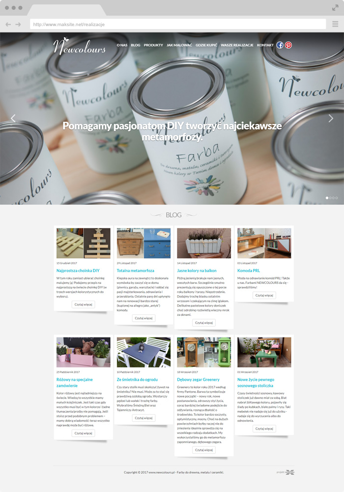 Newcolours - Paints for wood, metal and ceramics