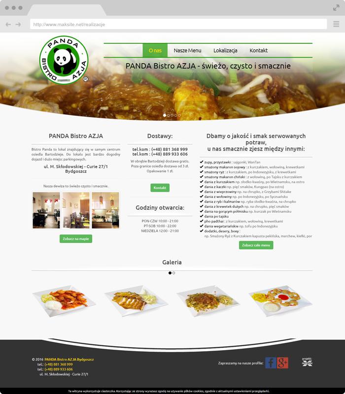 Projekt Strony Internetowej Panda Bistro Kuchnia Azjatycka