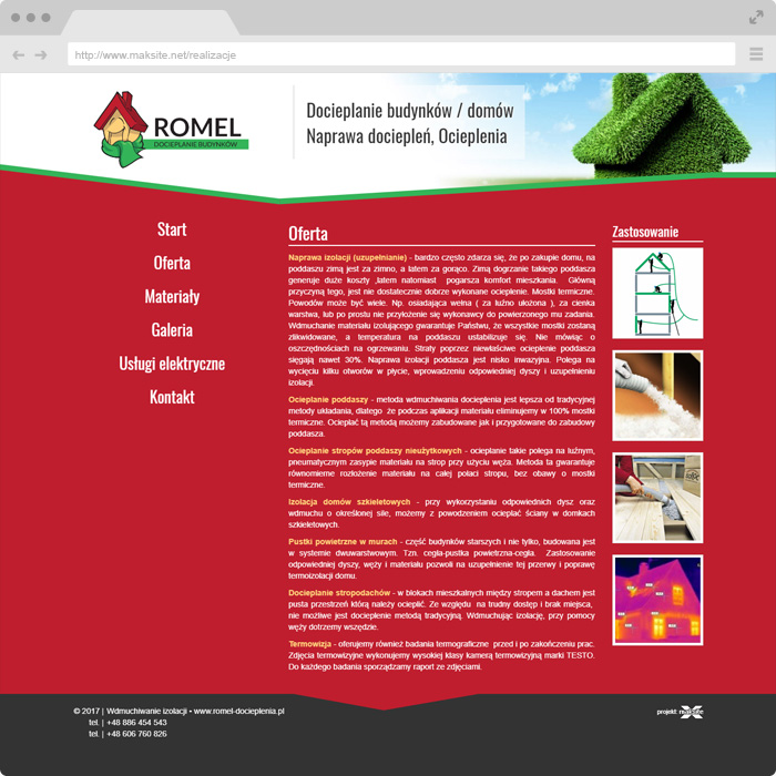 ROMEL - Thermal insulation of buildings